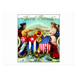 1898 buenos cigarros de los amigos postal