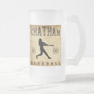 1898 Chatham Ontario Canada Baseball Frosted Glass Beer Mug