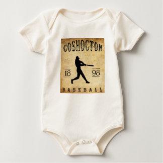 1898 Coshocton Ohio Baseball Baby Bodysuit