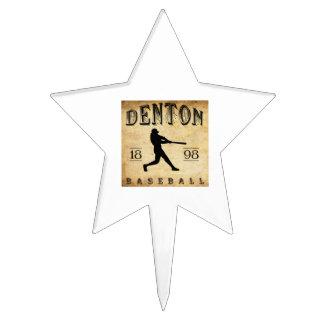 1898 Denton Texas Baseball Cake Topper