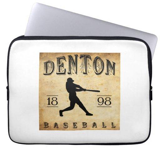 1898 Denton Texas Baseball Laptop Sleeves