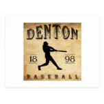 1898 Denton Texas Baseball Postcard