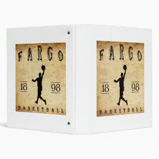 1898 Fargo North Dakota Basketball 3 Ring Binder