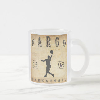 1898 Fargo North Dakota Basketball Frosted Glass Coffee Mug