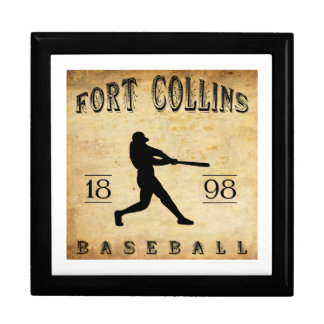 1898 Fort Collins Colorado Baseball Jewelry Boxes