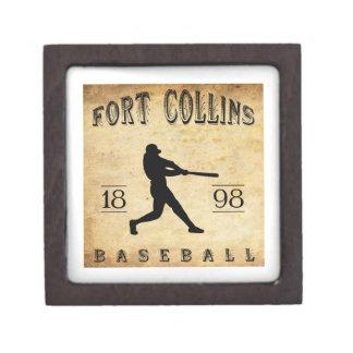 1898 Fort Collins Colorado Baseball Premium Jewelry Box