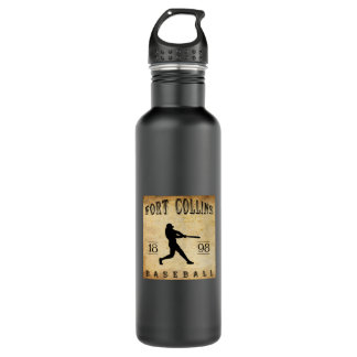 1898 Fort Collins Colorado Baseball Stainless Steel Water Bottle