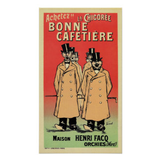 1898 French belle époque coffee substitute ad Poster