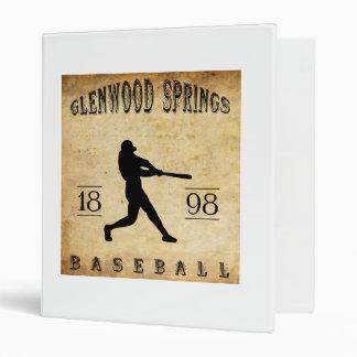 1898 Glenwood Springs Colorado Baseball 3 Ring Binder