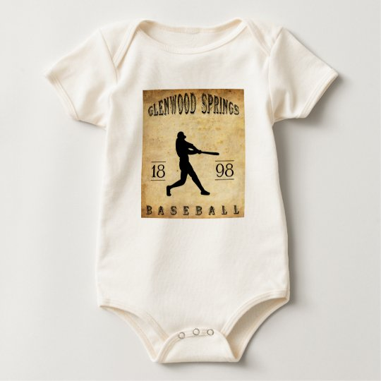 1898 Glenwood Springs Colorado Baseball Baby Bodysuit