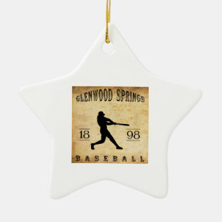 1898 Glenwood Springs Colorado Baseball Ceramic Ornament
