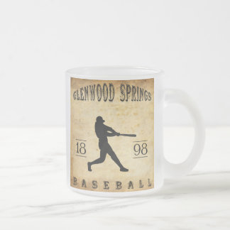 1898 Glenwood Springs Colorado Baseball Frosted Glass Coffee Mug