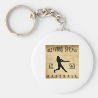 1898 Glenwood Springs Colorado Baseball Key Chain