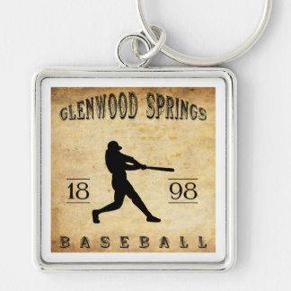1898 Glenwood Springs Colorado Baseball Keychains