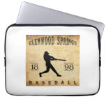 1898 Glenwood Springs Colorado Baseball Laptop Computer Sleeves