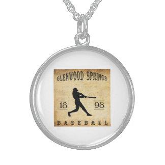 1898 Glenwood Springs Colorado Baseball Custom Necklace