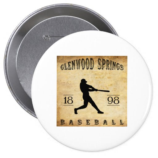 1898 Glenwood Springs Colorado Baseball Pins