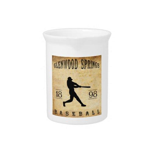 1898 Glenwood Springs Colorado Baseball Beverage Pitchers