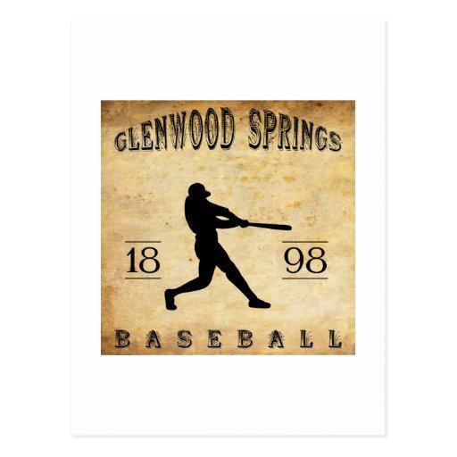 1898 Glenwood Springs Colorado Baseball Postcard