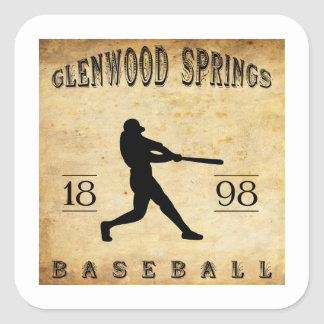 1898 Glenwood Springs Colorado Baseball Square Sticker