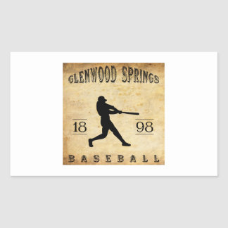 1898 Glenwood Springs Colorado Baseball Rectangular Stickers