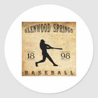 1898 Glenwood Springs Colorado Baseball Round Stickers