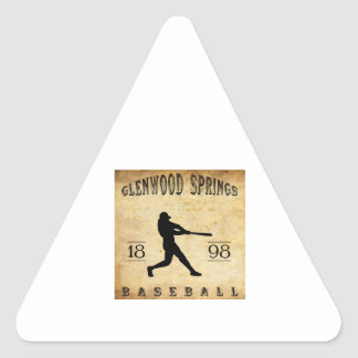 1898 Glenwood Springs Colorado Baseball Triangle Sticker