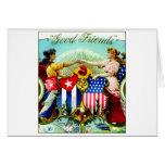 1898 Good Friends Cigars Greeting Card