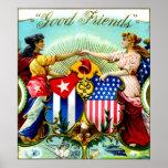 1898 Good Friends Cigars Print