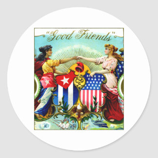 1898 Good Friends Cigars Classic Round Sticker