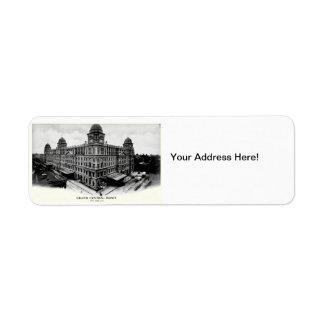 1898 Grand Central Depot Label