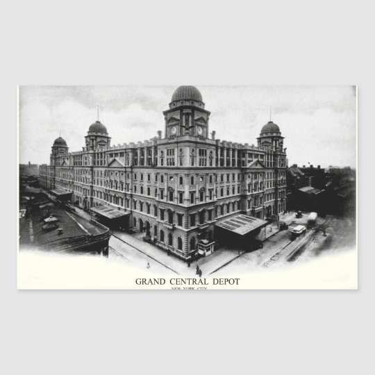 1898 Grand Central Depot Rectangular Sticker