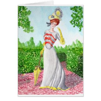 1898 High Fashion Model Greeting Card