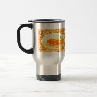 1898 Indian Hunting Buffalo Travel Mug