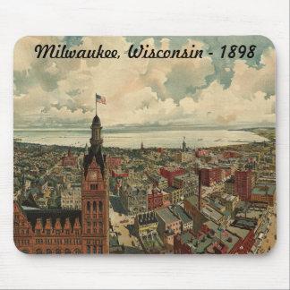 ¡1898 Milwaukee, cojín de ratón de la opinión de o Tapete De Ratones