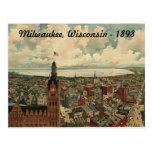 ¡1898 Milwaukee, postal de la opinión de ojo de pá
