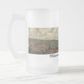 ¡1898 Milwaukee, taza de cerveza de la opinión de