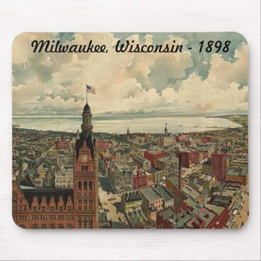 1898 Milwaukee, WI Birds Eye View Mouse Pad!