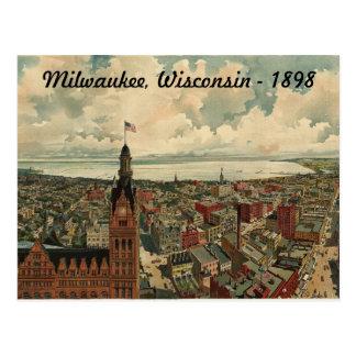 1898 Milwaukee, WI Birds Eye View Postcard! Postcard