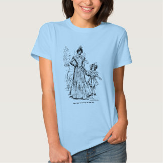 1898 Mother and Daughter Easter Fashions Tee Shirt
