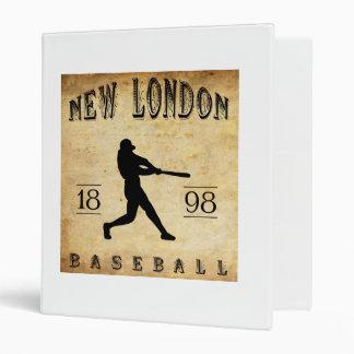 1898 New London Connecticut Baseball 3 Ring Binder