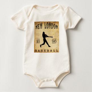 1898 New London Connecticut Baseball Baby Bodysuit