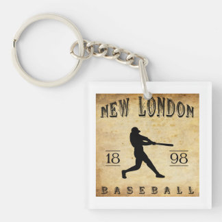 1898 New London Connecticut Baseball Square Acrylic Key Chains