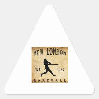 1898 New London Connecticut Baseball Triangle Sticker