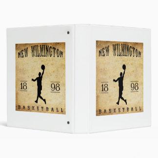 1898 New Wilmington Pennsylvania Basketball Binder
