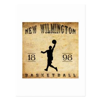 1898 New Wilmington Pennsylvania Basketball Postcard