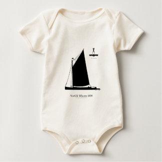 1898 Norfolk Wherry - tony fernandes Baby Bodysuit