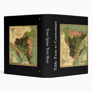 1898 Official Map of Nicaragua 3 Ring Binder