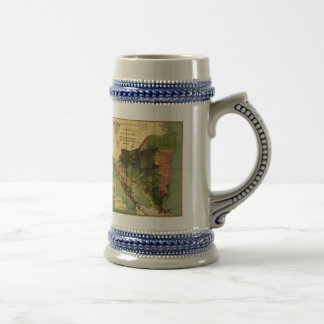 1898 Official Map of Nicaragua Beer Stein