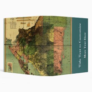 1898 Official Map of Nicaragua Binder